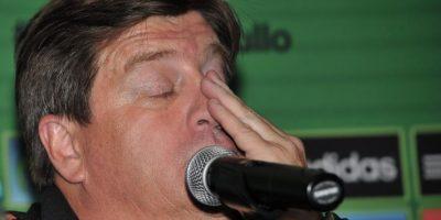Después insultó al comentarista deportivo Christian Martinoli en conferencia de prensa Foto:AFP
