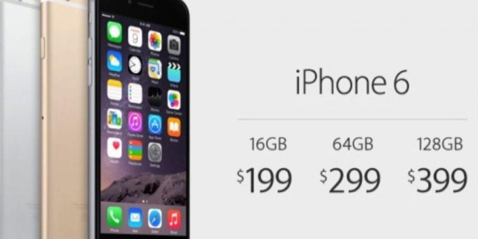 Precio: 199 dólares (16GB), 299 dólaresc (64GB) y 399 dólares (128GB); todos con un contrato de dos años. Foto:Getty Images