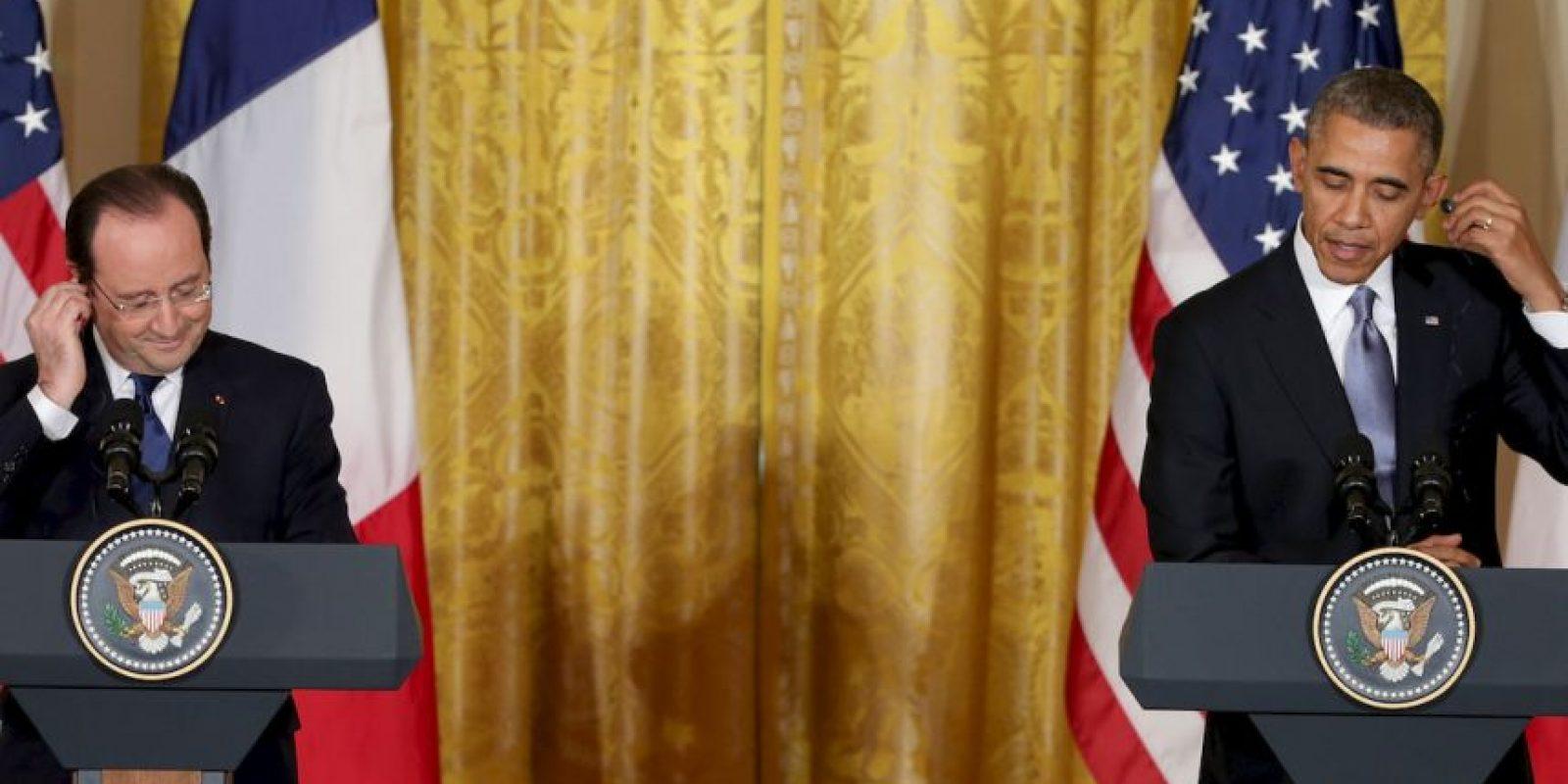En 2013 se dio a conocer que Estados Unidos espiaba a Francia. El Palacio del Elíseo recordó ayer en un comunicado que Hollande ya analizó este tipo de situaciones en 2014, cuando visitó Washington. Foto:Getty Images