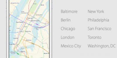 De las principales ciudades del mundo Foto:Apple