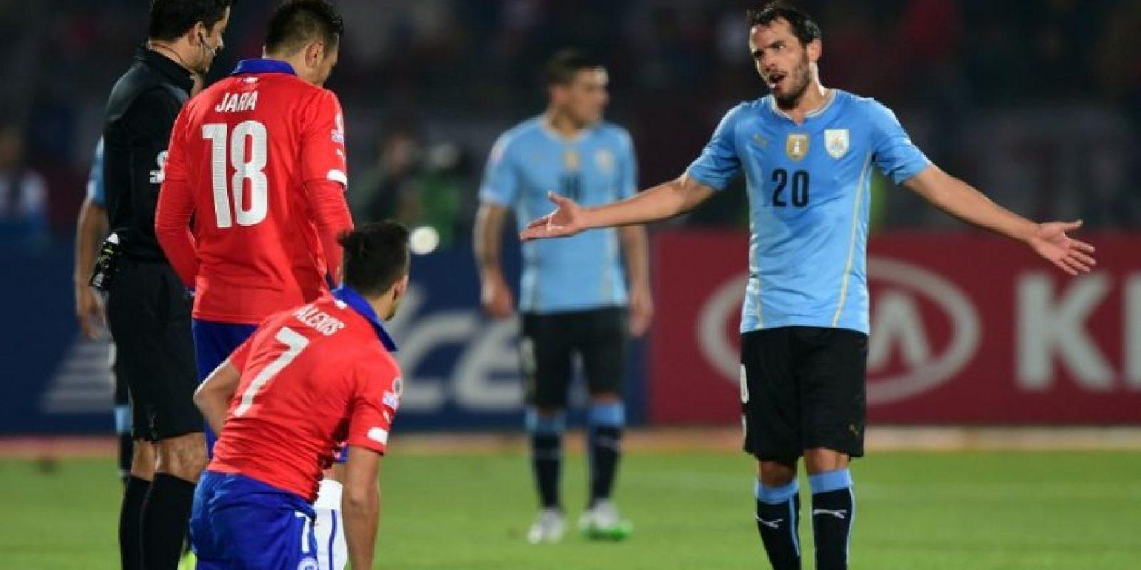 """""""Son jugadores sin jerarquía. En un partido de 11 vs. 11 podíamos jugar tres días y no nos hacían goles"""", Álvaro González. Foto:AFP"""