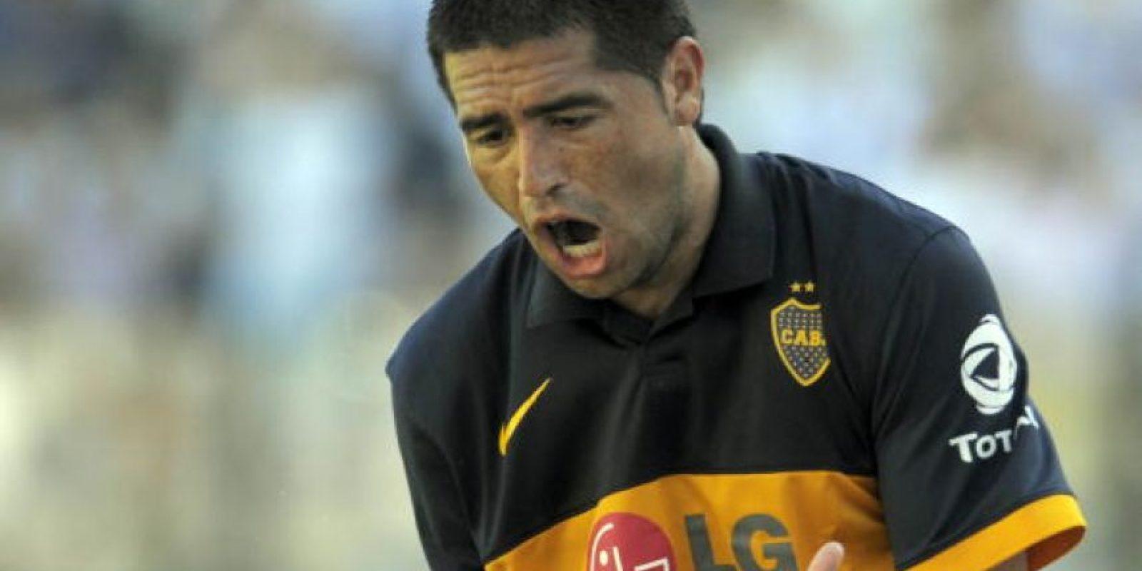 """5. Riquelme también fue víctima de un dedo """"indiscreto"""" Foto:Getty Images"""