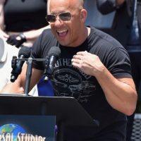 """""""Estoy muy emocionado de poder estar aquí, se siente una subida de adrenalina increíble. Esto va por Paul"""", comentó Vin Diesel frente a los medios. Foto:Getty Images"""