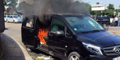 FOTOS: Las violentas protestas de taxistas contra Uber en este país