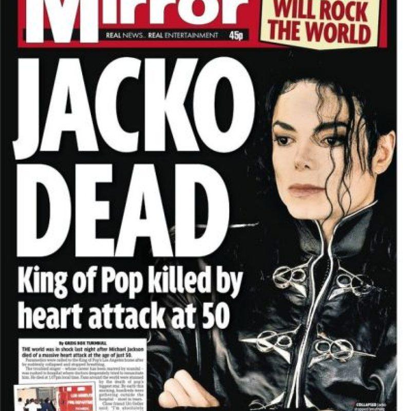 """La vida de Jackson se vio envuelta en la polémica. Foto:Periódico """"Daily Mirror"""""""