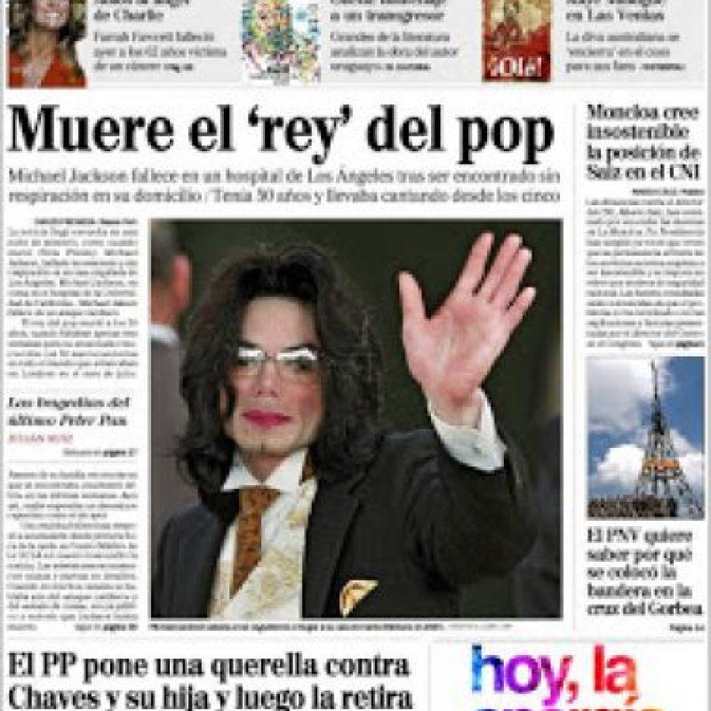 """En 1993 y 2003, el cantante fue acusado de abuso sexual. Foto:Periódico """"El Mundo"""""""