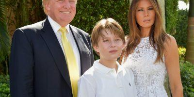 El más pequeño de sus hijo y fruto de su tercer matrimonio con Melanie Trump. Foto:Getty Images