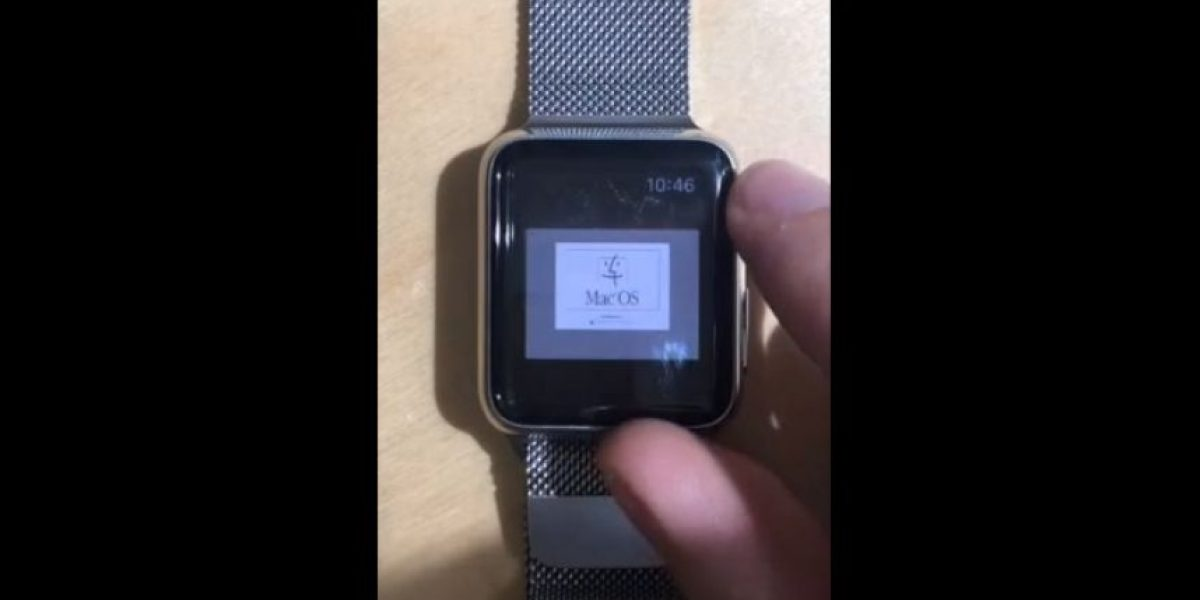 VIDEO: Así se ve el Apple Watch con Mac 1996