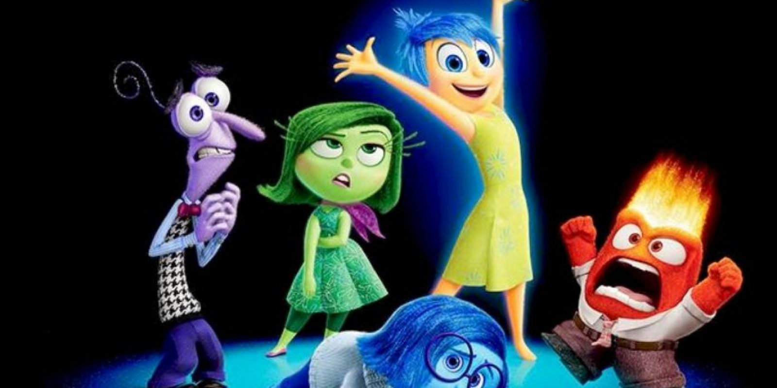 """""""Alegría"""", """"Miedo"""", """"Tristeza"""" y """"Disgusto"""" son las estrellas del momento. Foto:vía Pixar"""