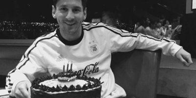 Lionel Messi cumplió 28 años y su hijo Thiago fue el encargado de felicitarlo en redes sociales. Foto:Vía instagram.com/leomessi
