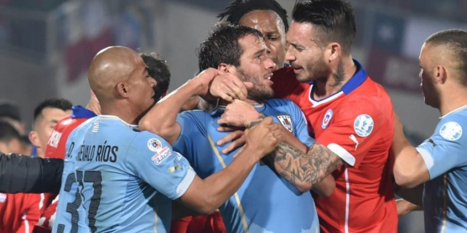 """La """"Roja"""" se impuso 1-0 a Uruguay en los cuartos de final Foto:AFP"""