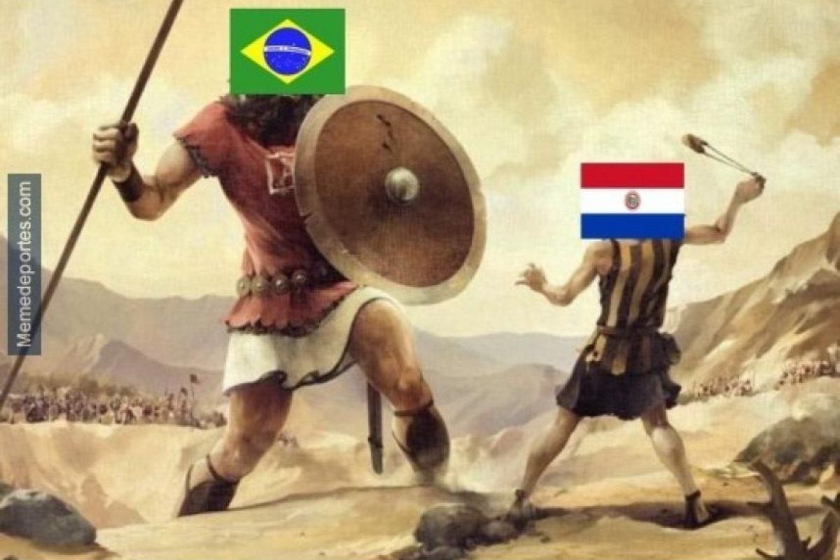 Todo comenzó con la típica comparación entre David y Goliat… Foto:memedeportes.com