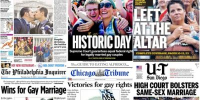 FOTOS. Así tituló la prensa la histórica aprobación del matrimonio gay