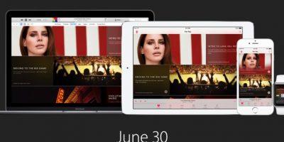 Estas fueron las imágenes con las que se presentó la app oficial de streaming musical de Apple Foto:Apple