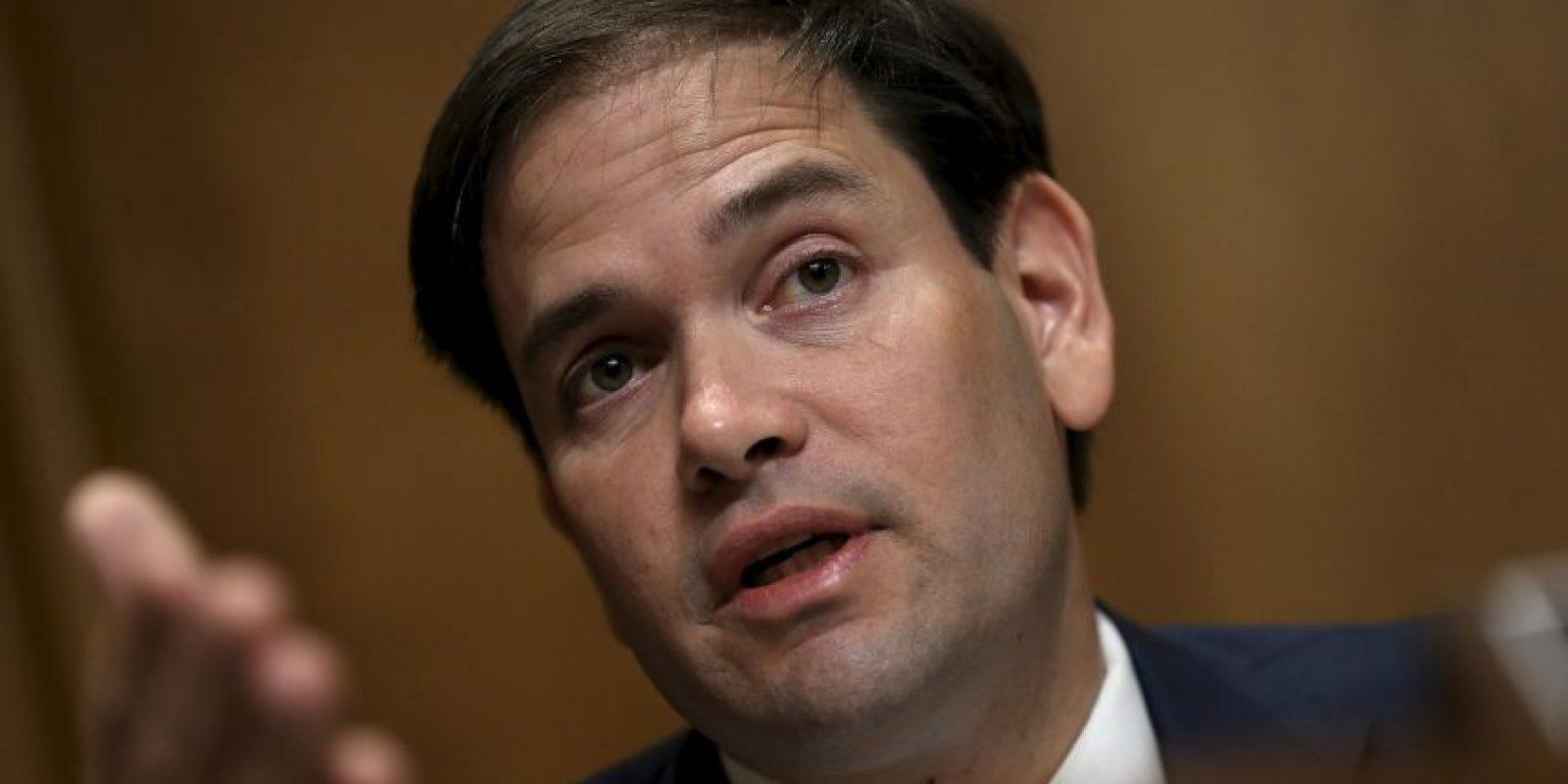 Marco Rubio, senador Foto:Getty Images