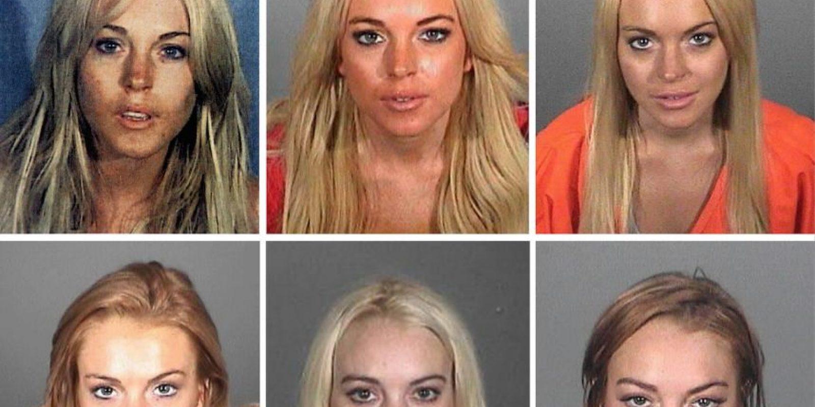 La actriz se enfrentó a las autoridades en diferentes ocasiones, como consecuencia de sus problemas con las drogas y el alcohol. Foto:Getty Images