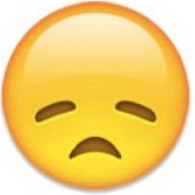 """Se puede utilizar para decir: """"Estoy triste"""", """"me siento mal anímicamente"""". Foto:emojipedia.org"""