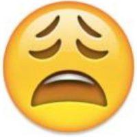 """Se puede utilizar para decir: """"Estoy angustiado"""", """"no sé qué pasará"""", """"quiero llorar"""". Foto:emojipedia.org"""