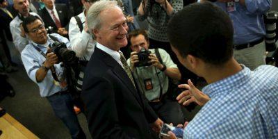 """""""No podemos volver a las políticas económicas que nos fallaron antes"""", dijo en referencia a Hillary Clinton Foto:Getty Images"""