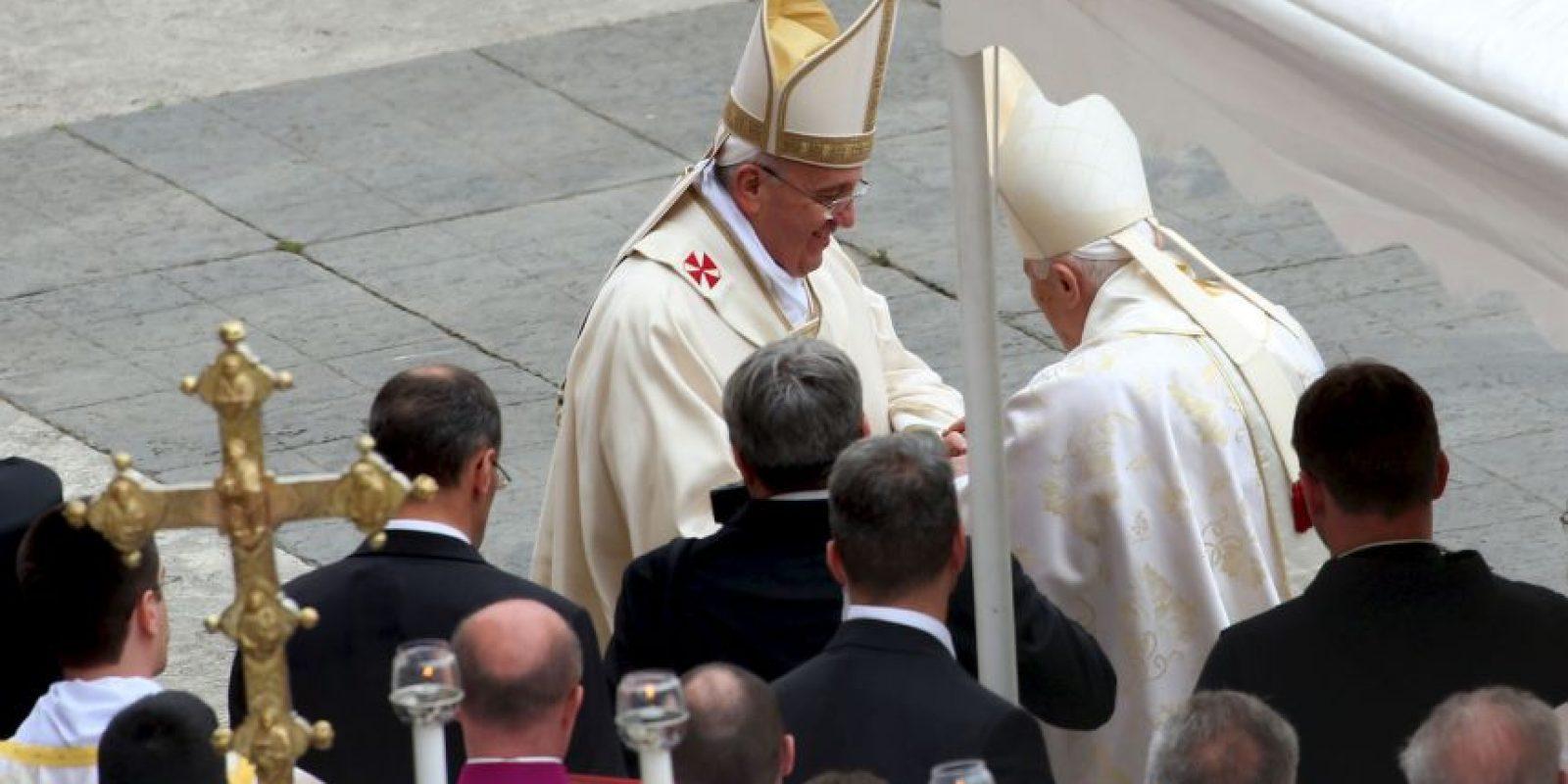 En la canonización de los Papas Juan Pablo II y Juan XXIII Foto:Getty Images