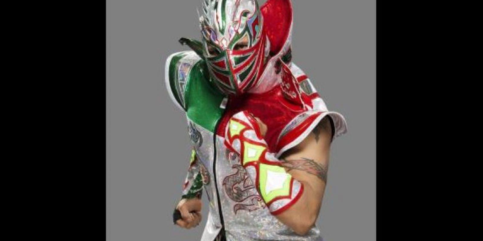 """Kalisto. Ahora es parte del dueto """"The Lucha Dragons"""", junto a Sin Cara Foto:WWE"""