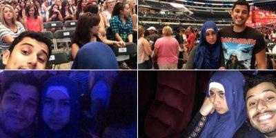 También acompañó a su hermana a un concierto de la banda. Foto:vía Twitter/@Advil