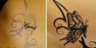 14. Así cambió el nombre de su ex por una mariposa Foto:Imgur