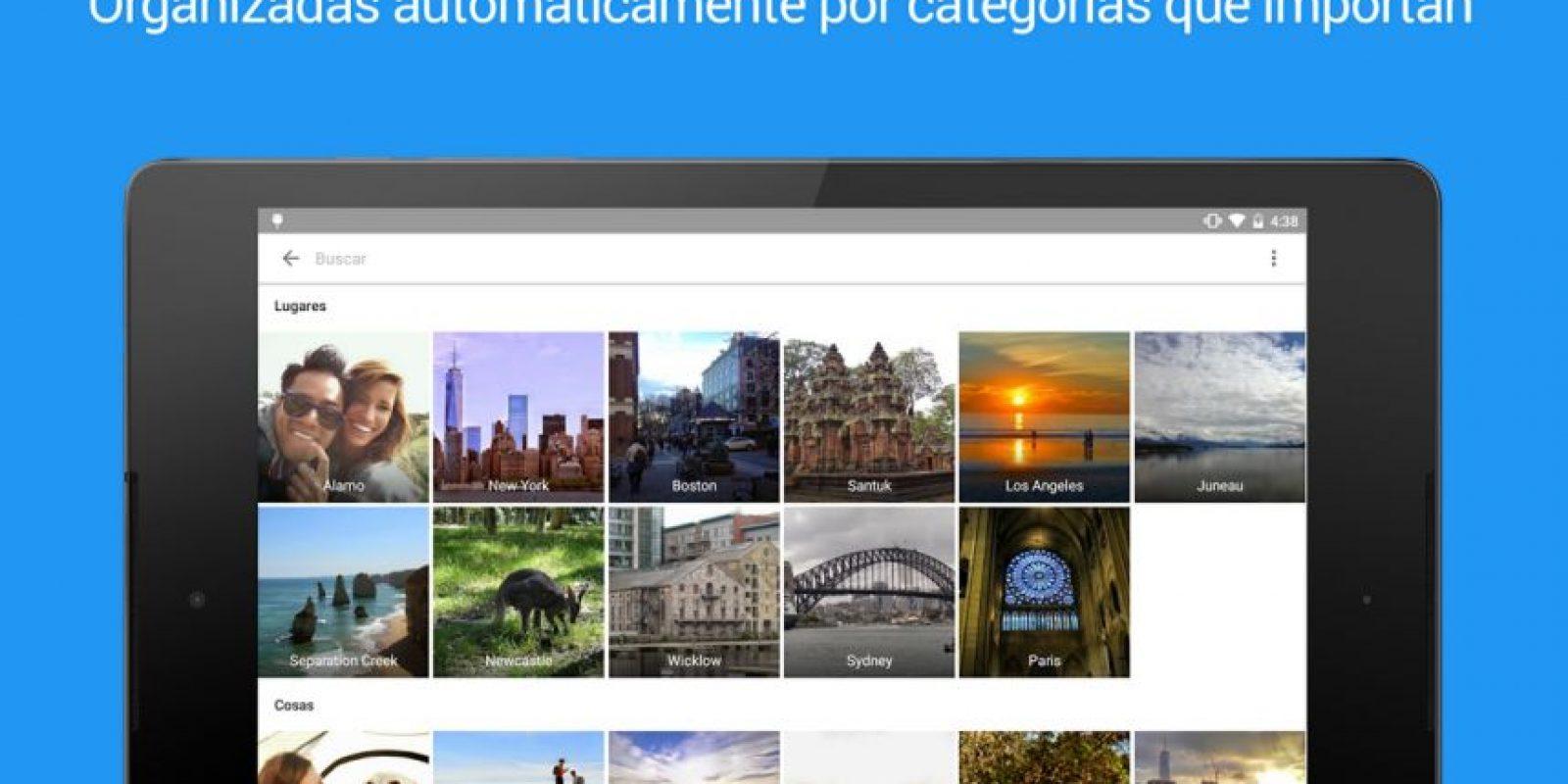 Incluso se le incorporó un asistente que les indicará tips para organizarlas Foto:Google