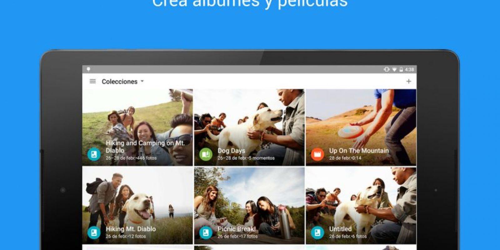 Con la que pueden ordenar sus fotos desde el navegador Foto:Google