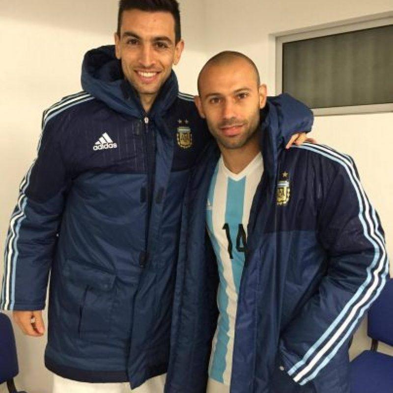 Y también de los jugadores en los camarines. Foto:Vía facebook.com/AFASeleccionArgentina
