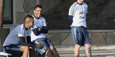 Así se vive el ambiente dentro de la selección de Argentina en los entrenamientos. Foto:Vía facebook.com/AFASeleccionArgentina