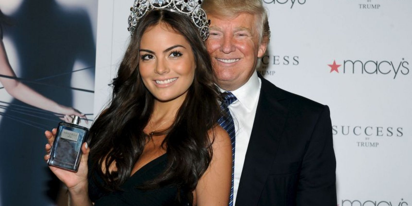 Donald Trump y la mexicana Ximena Navarrete, Miss Universo de 2010 Foto:Getty Images