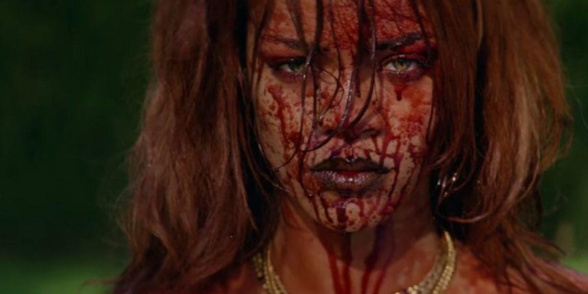 Desnuda y ensangrantada, Rihanna revela su nuevo video musical