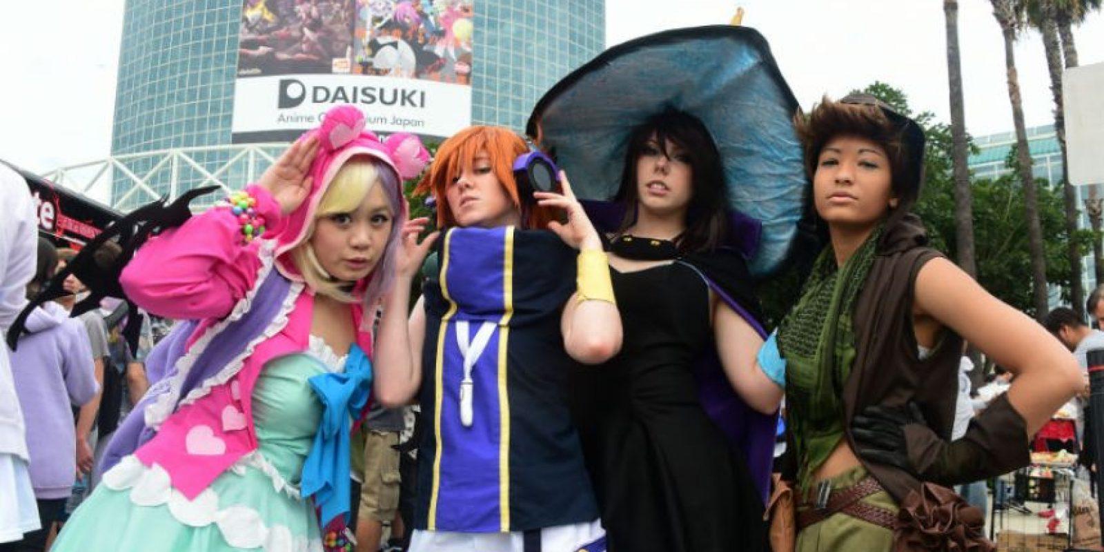 Cientos de personas se han dado cita en la Anime Expo de Los Ángeles. Foto:AFP
