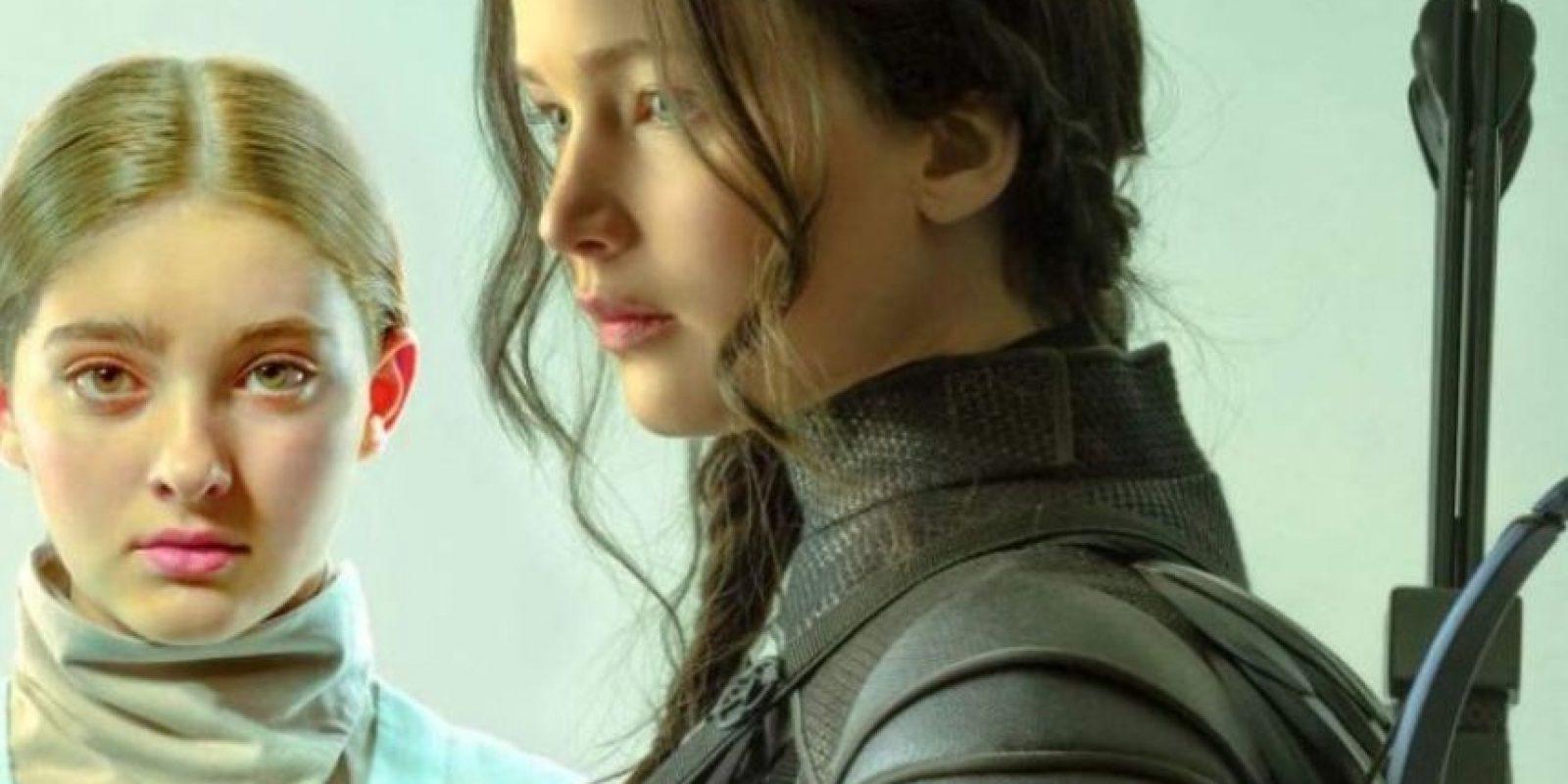 """Y se sitúa momentos después de que el """"Distrito 13"""" consiguiera rescatar a """"Peeta Mellark"""" de las garras del capitolio. Foto:Revista TIME / Tim Palen"""