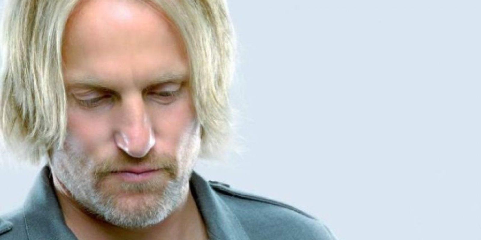 """""""Haymitch Abernathy"""" es Woody Harrelson Foto:Revista TIME / Tim Palen"""