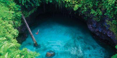 Esta piscina natural en Samoa. Foto:vía Flickr.