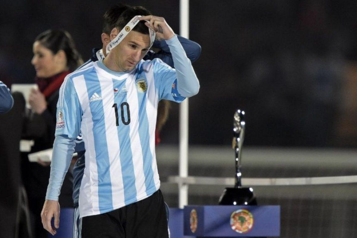 """Así sufrió la """"Pulga"""" la derrota de la """"Albiceleste"""" en la Copa América Foto:AFP"""