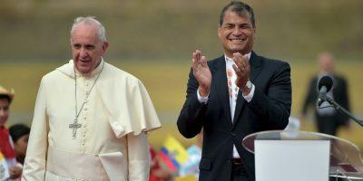 En el discurso se su llegada agradeció a Dios, por poder volver a Latinoámerica Foto:AFP