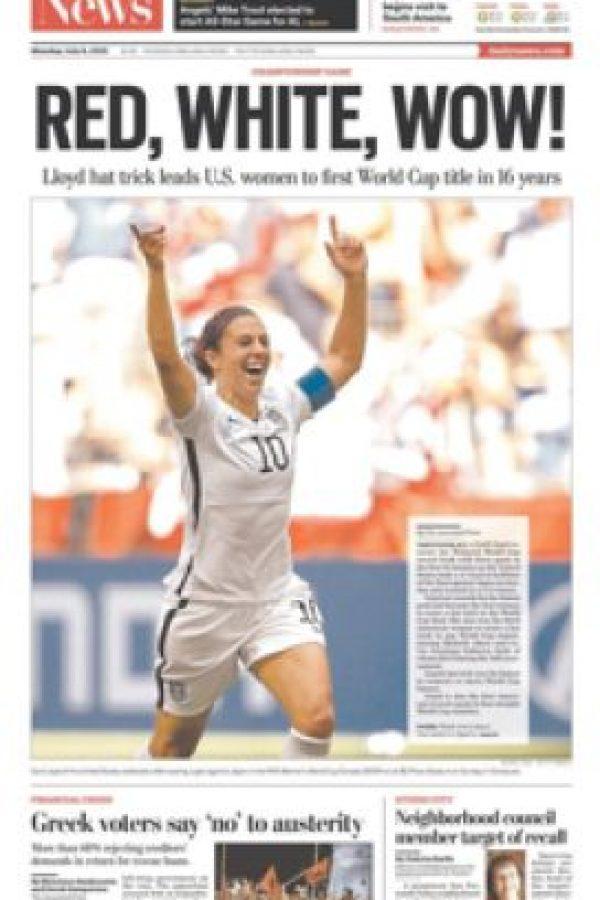 Así celebraron las estadounidenses su tercer título mundial Foto:Getty Images