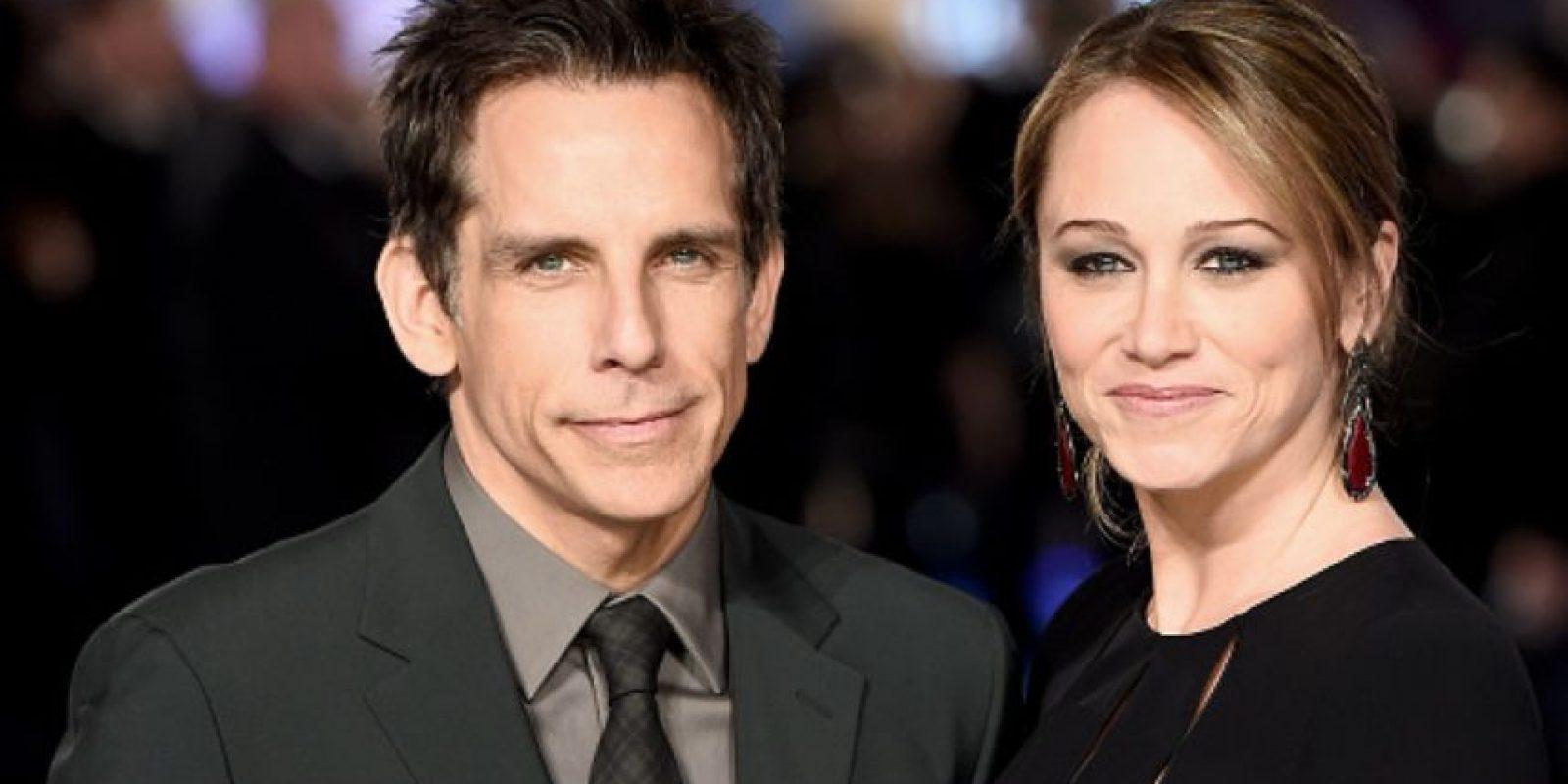 3. Ben Stiller y Christine Taylor. Foto:vía Getty Images
