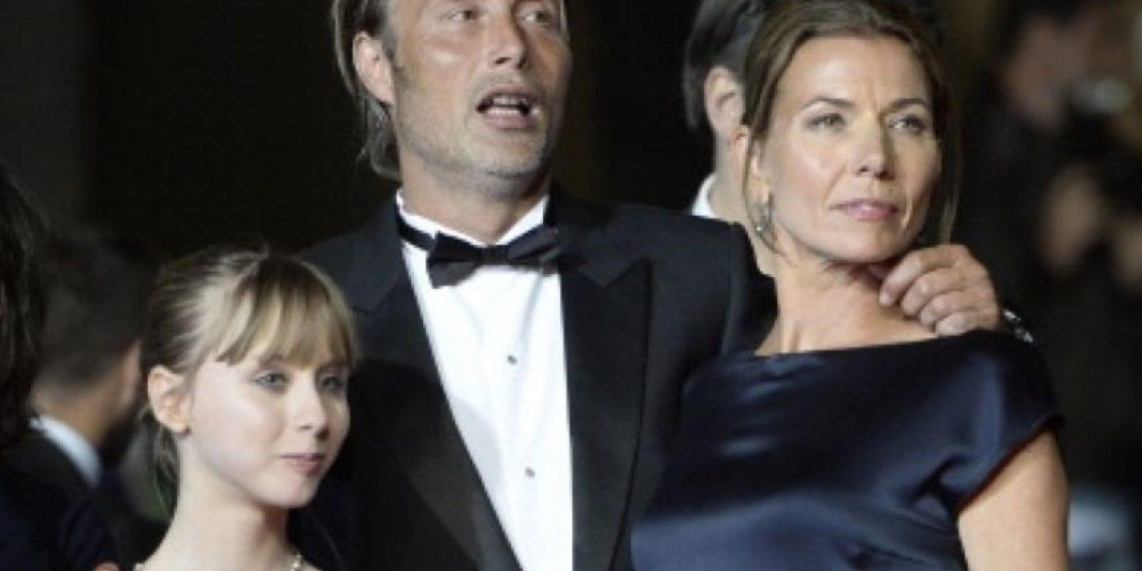 11. Mads Mikkelsen y Hanne Jacobsen. Foto:vía Getty Images
