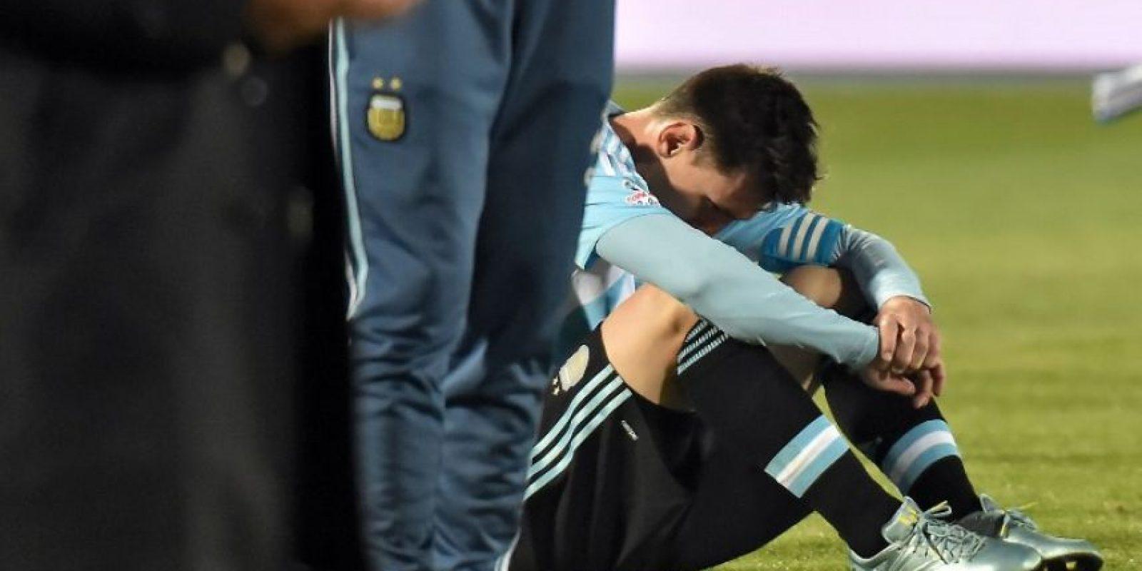 """La """"Pulga"""" ha jugado 103 partidos con la """"Albiceleste"""" Foto:AFP"""