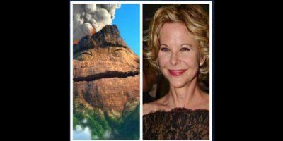 10.- Su rostro también lo compararon con un volcán Foto:vía Twitter