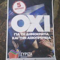 En las calles, se sigue utilizando el #OXI, palabra que significa 'no' y que fue la campaña contra las propuestas de la Troika Foto:Instagram.com
