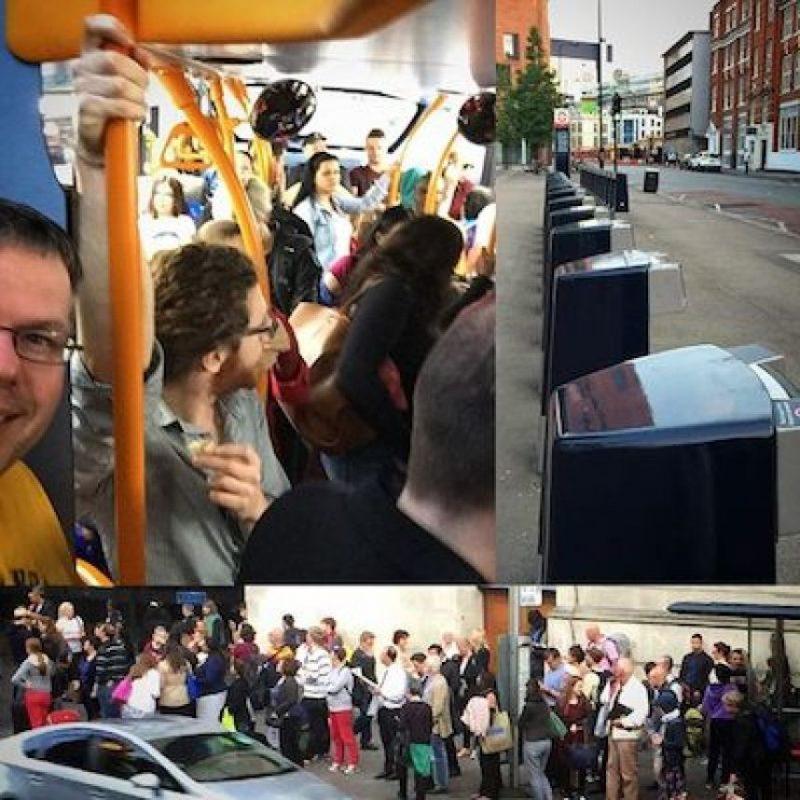 5. Se vieron afectados otros sistemas de transporte. Foto:Instagram.com/gspn