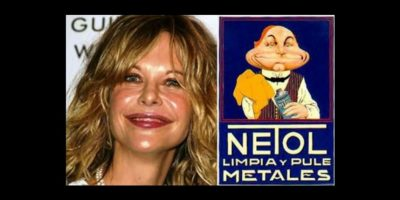 14.- Alguien consideró que su rostro es como el logo de este limpiador de metales Foto:vía Twitter