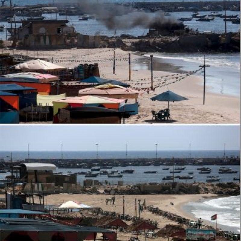 Así lucen las playas palestinas Foto:AFP