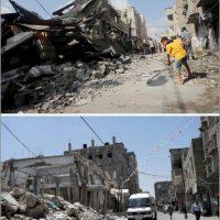 Imagen tomada en Rafah Foto:AFP