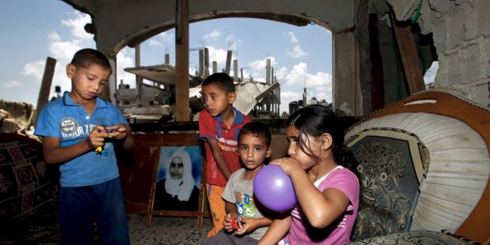 Niños palestinos, los más afectados por los bombardeos Foto:AFP